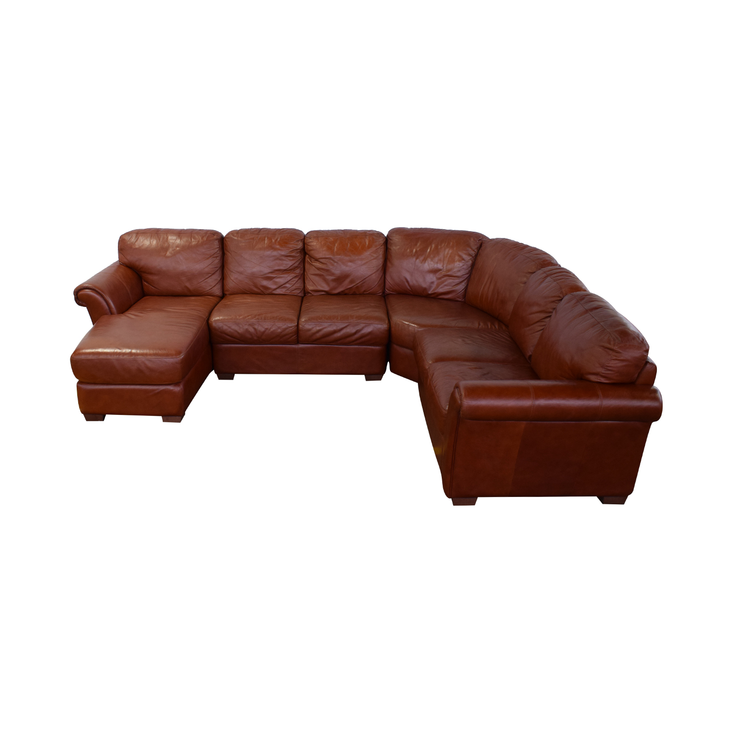 Chateau d'Ax Chateau d'Ax Leather Sectional nj