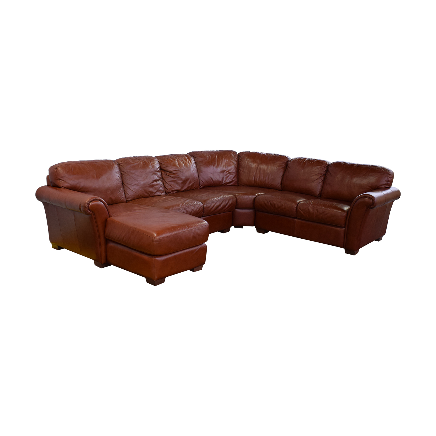 47% OFF - Chateau d'Ax Chateau d'Ax Leather Sectional / Sofas