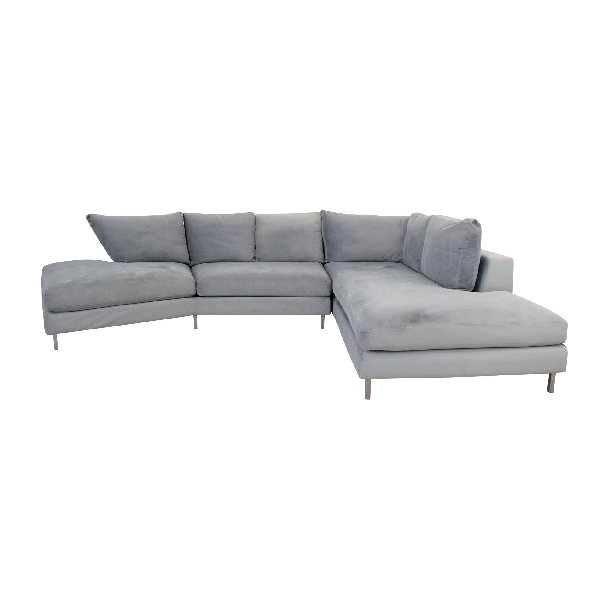 Room & Board Room & Board Hayes Angled Sectional Sofa nyc