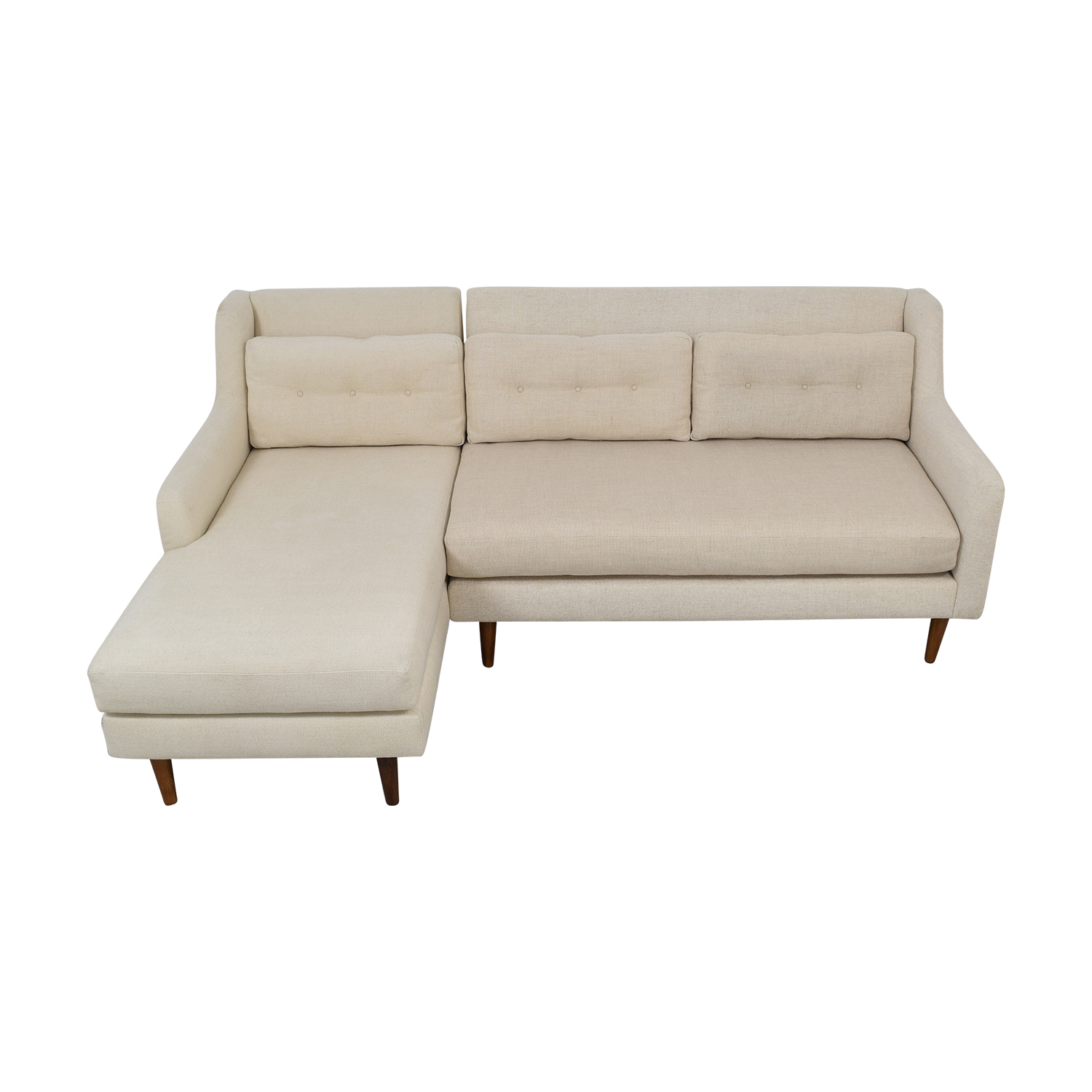 buy West Elm Crosby Midcentury Sectional West Elm Sectionals