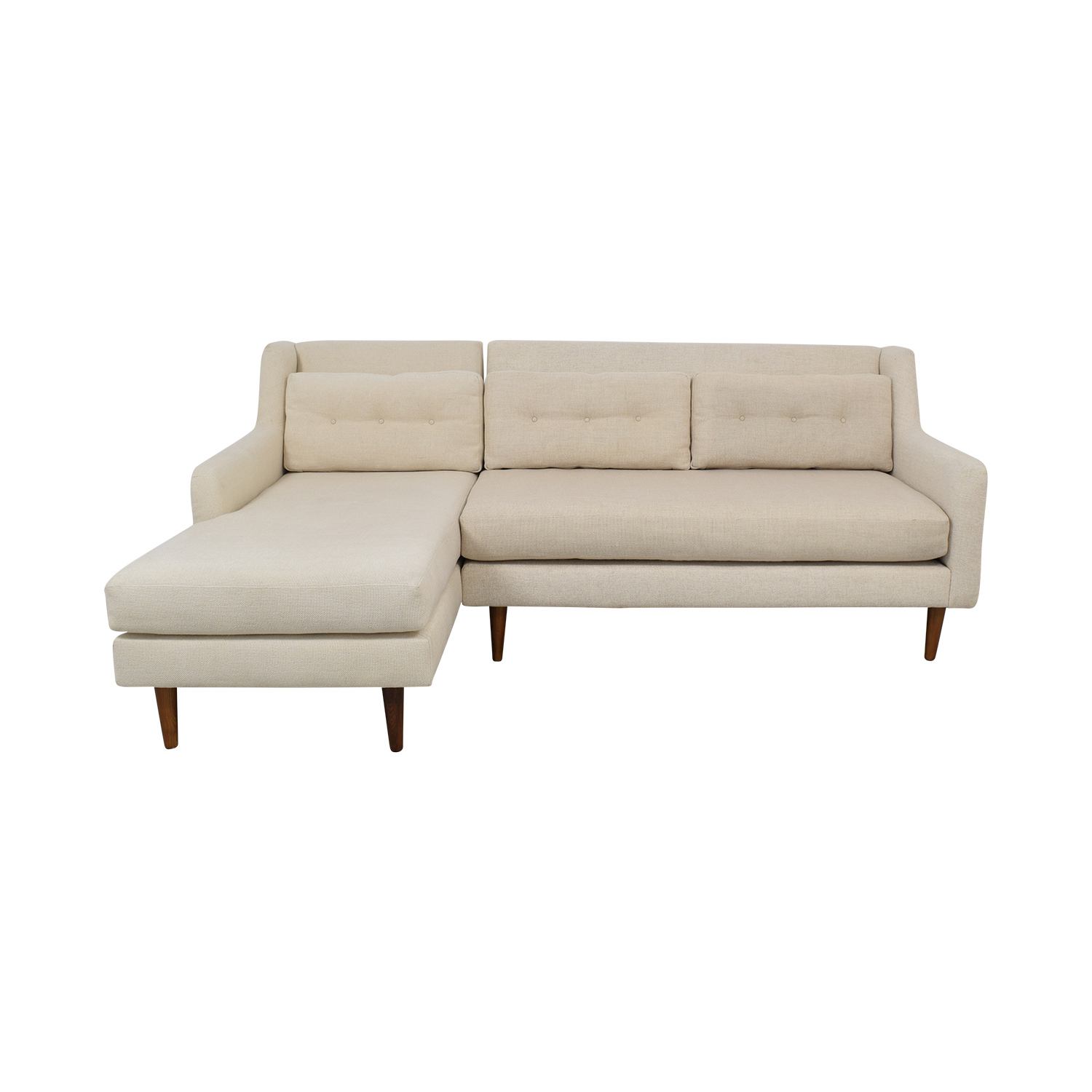 West Elm West Elm Crosby Midcentury Sectional for sale