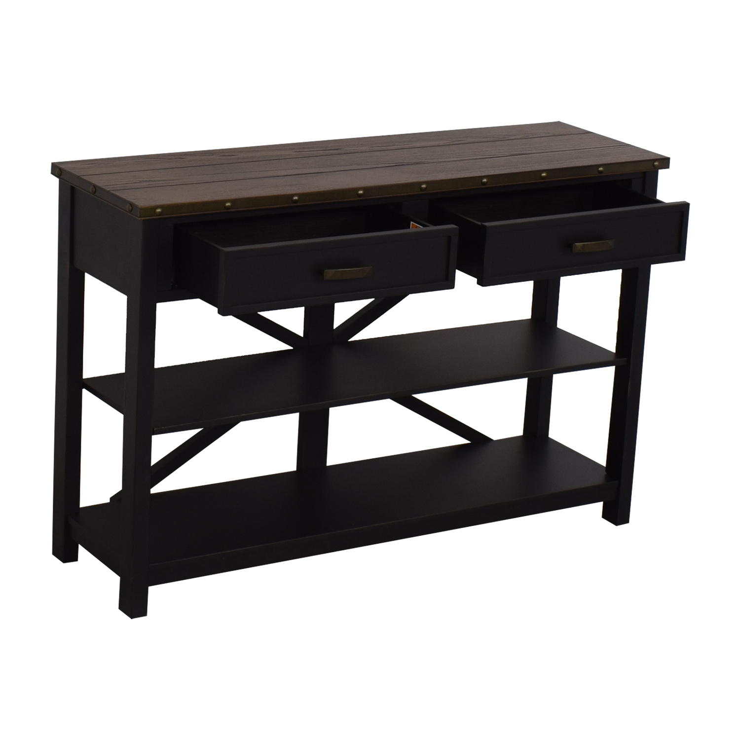 shop Raymour & Flanigan Brennan Sofa Table Raymour & Flanigan Accent Tables