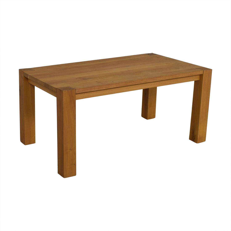 Crate & Barrel Crate & Barrel Big Sur Dining Table dimensions
