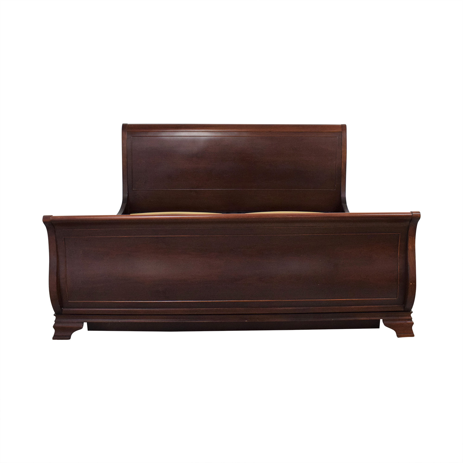 Broyhill Furniture Broyhill Furniture Sleigh King Bed Frame dark brown