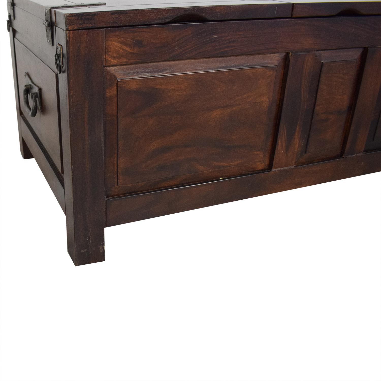 Crate & Barrel Crate and Barrel Trunk Table dark brown