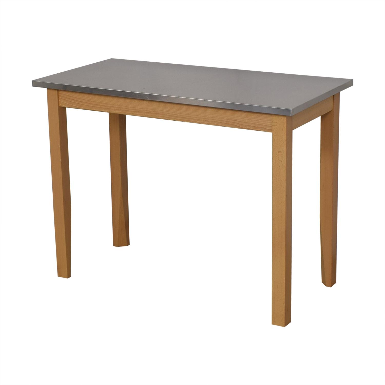 Restoration Hardware Rectangular Side Table sale