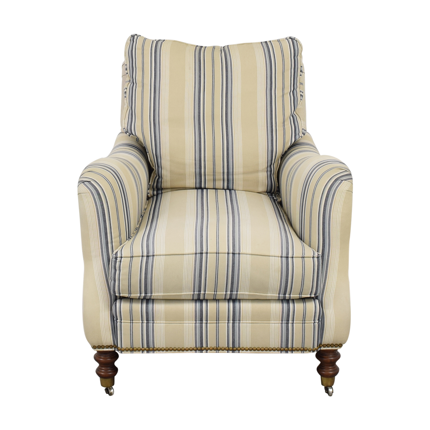 Wesley Hall Wesley Hall Striped Arm Chair ma