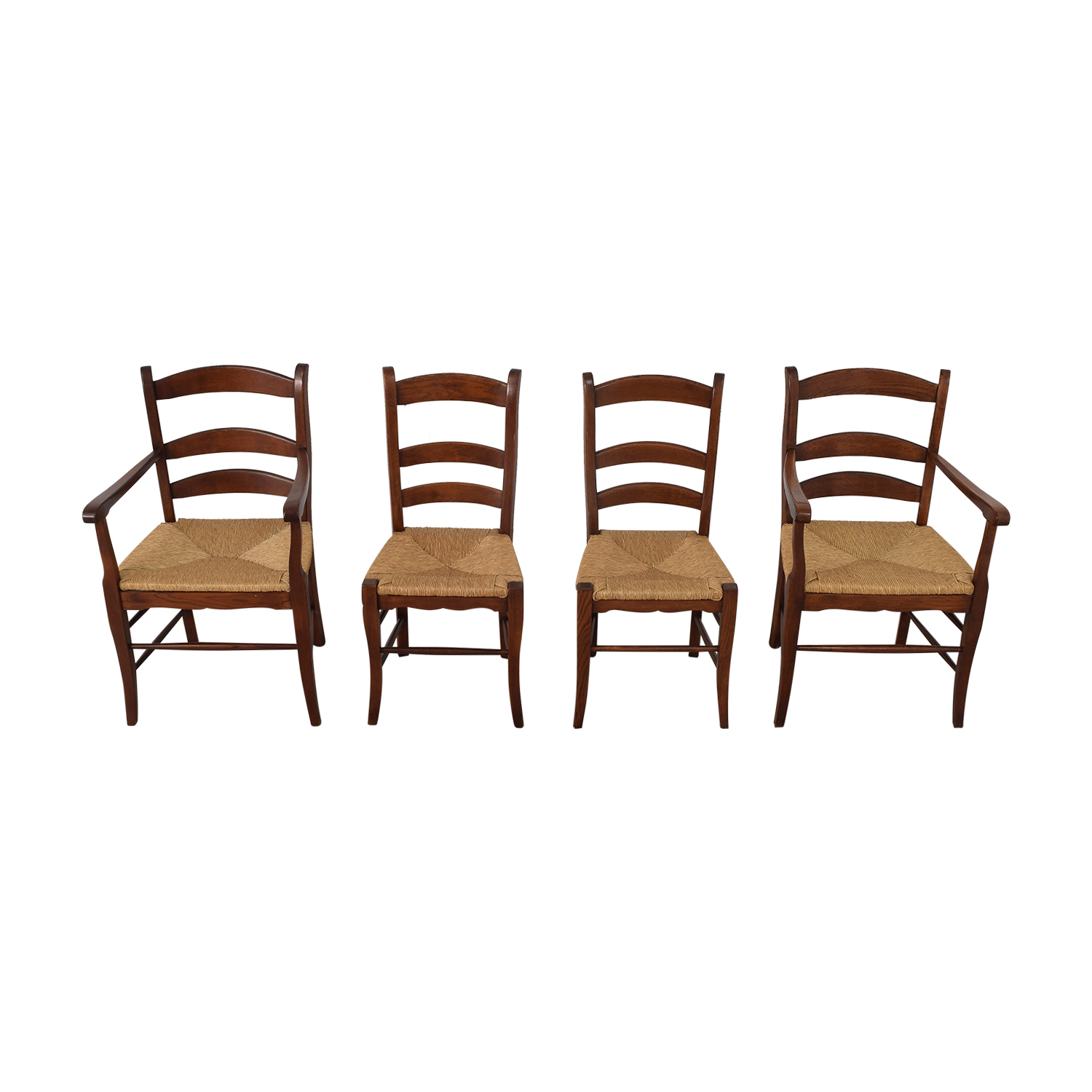 Ladder Style Rush Seat Dining Chairs discount