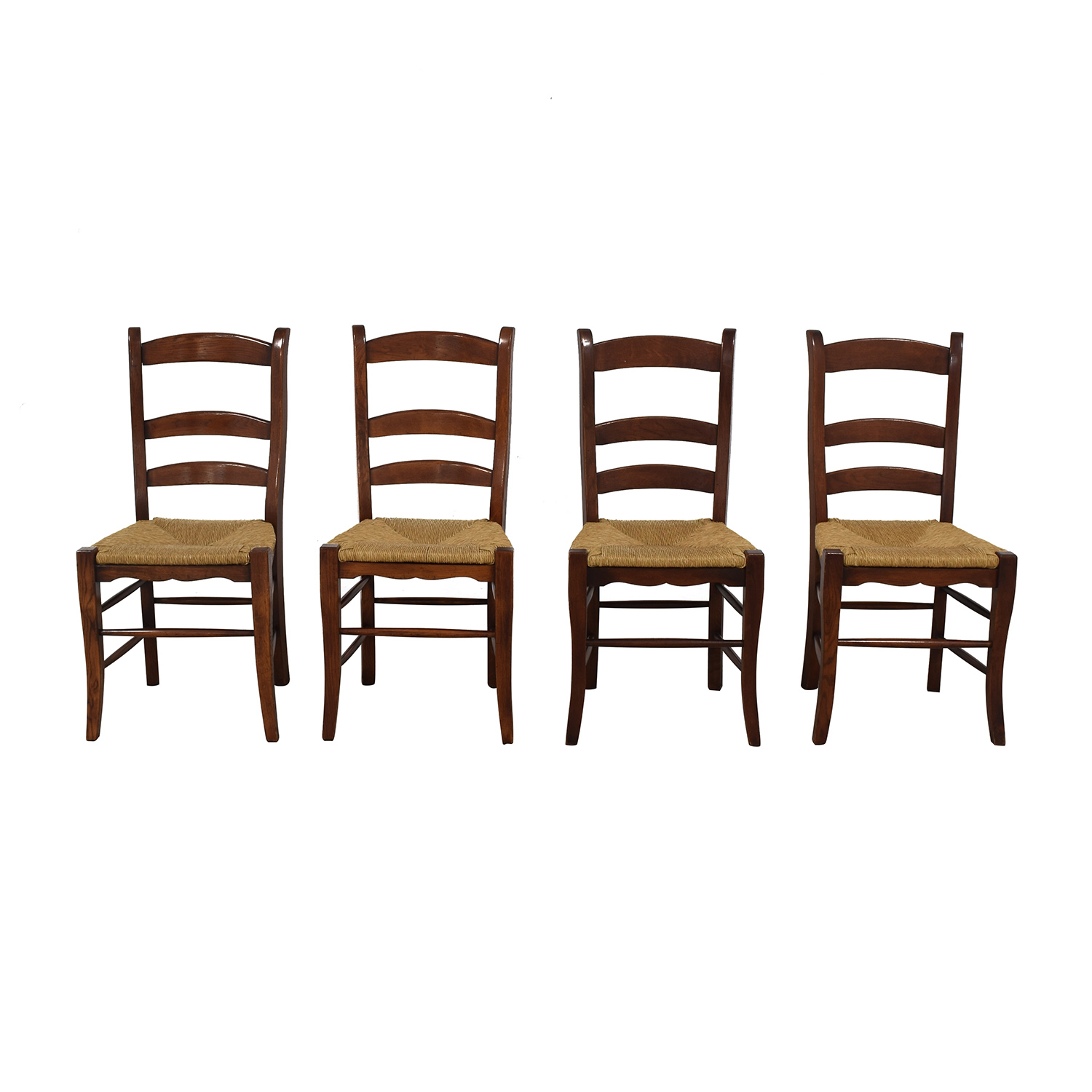 Ladder Style Rush Seat Dining Chairs for sale