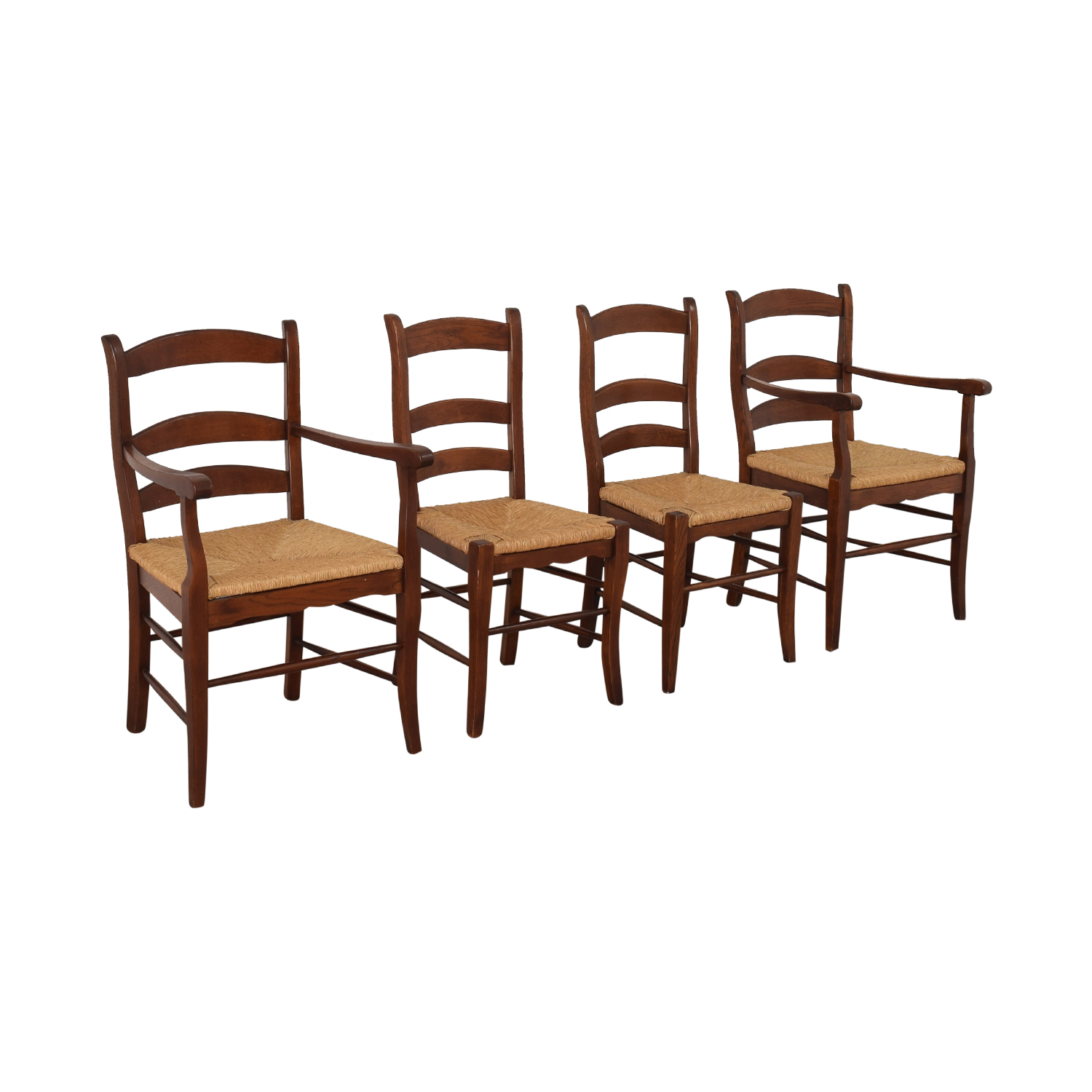 shop Ladder Style Rush Seat Dining Chairs  Chairs