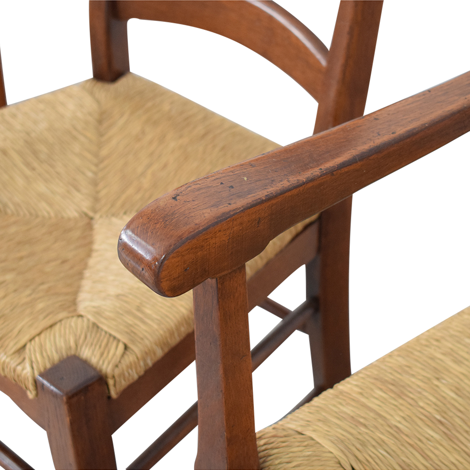 Ladder Style Rush Seat Dining Chairs sale