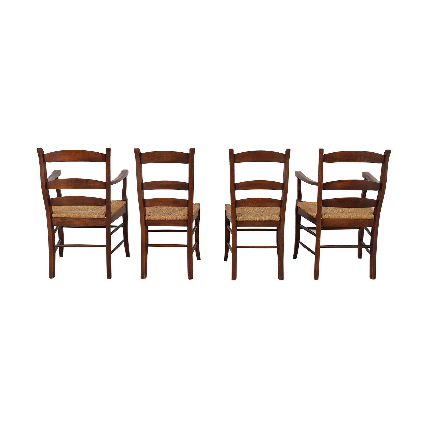 shop Ladder Style Rush Seat Dining Chairs  Dining Chairs