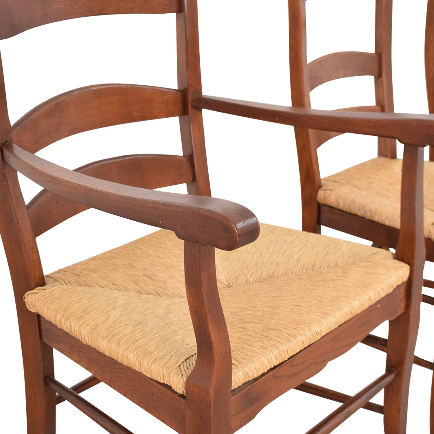 Ladder Style Rush Seat Dining Chairs / Chairs