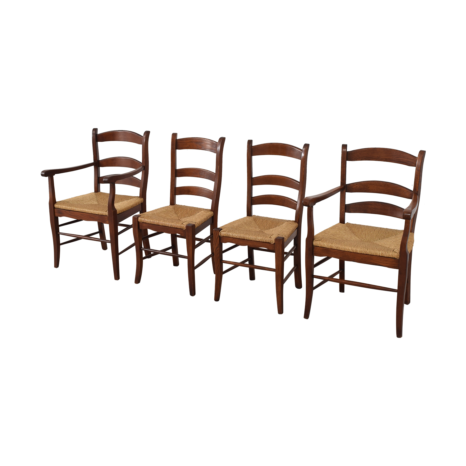 Ladder Style Rush Seat Dining Chairs Dining Chairs