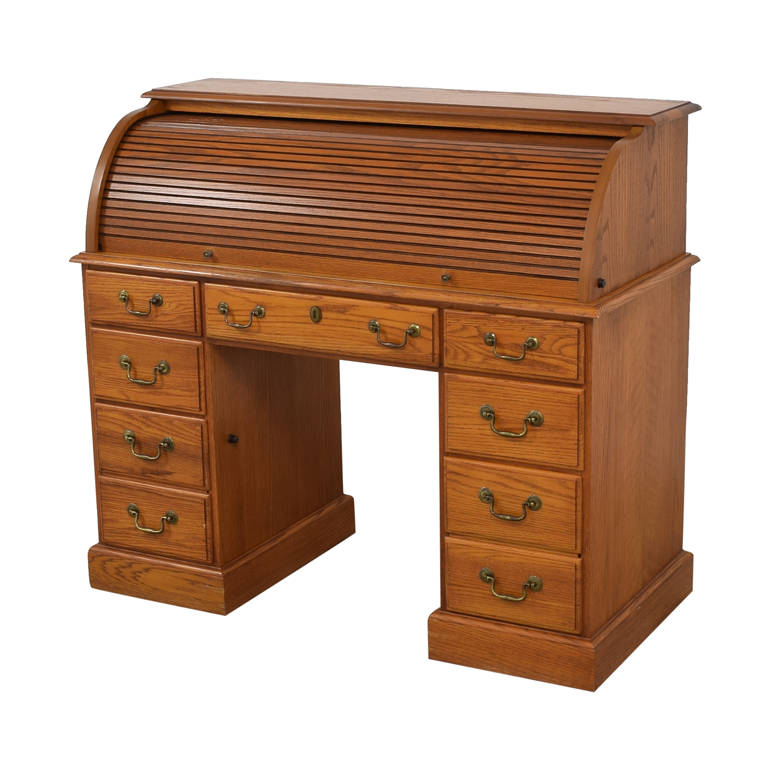 shop Seven Drawer Roll Top Desk