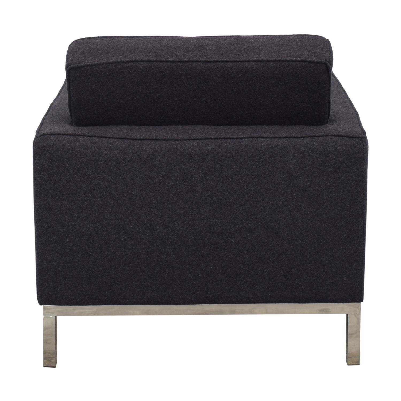 LexMod Loft Armchair in Dark Grey / Accent Chairs