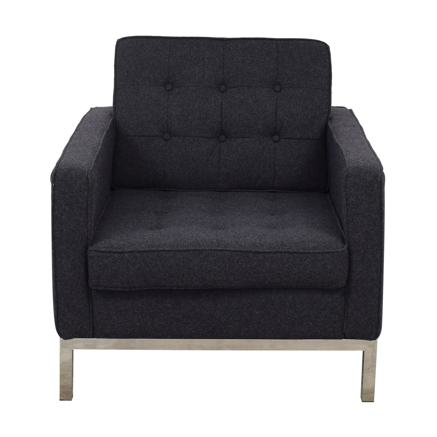 LexMod LexMod Loft Armchair in Dark Grey pa