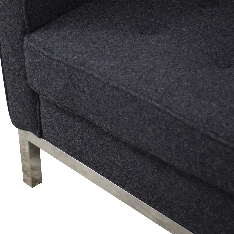 shop LexMod Loft Armchair in Dark Grey LexMod Accent Chairs