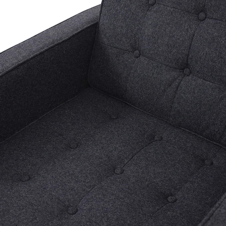 LexMod Loft Armchair in Dark Grey LexMod