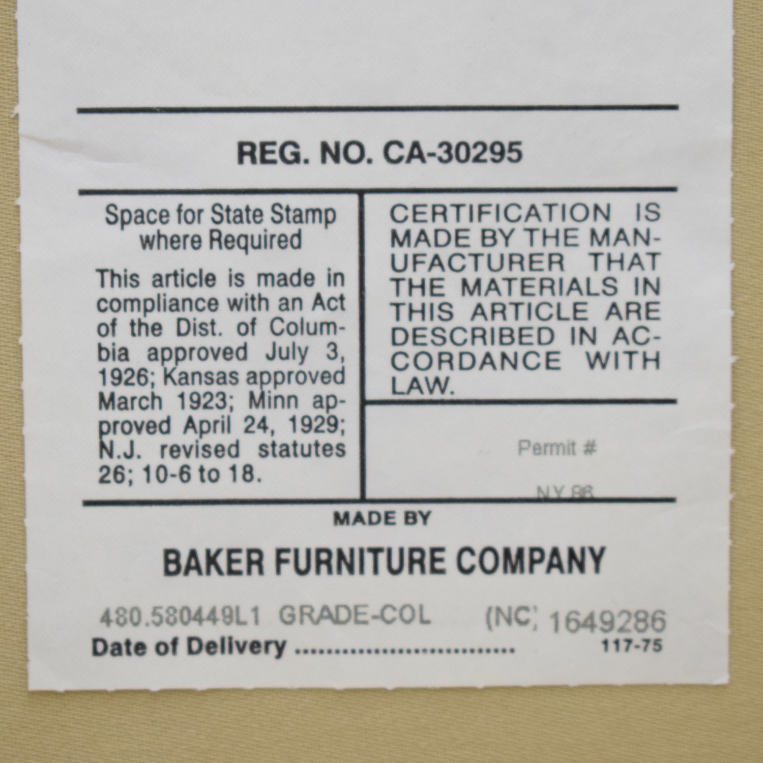 Baker Furniture Side Chair / Accent Chairs