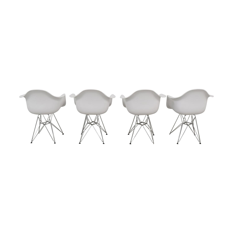 Modway Modway Paris Mid Century Modern Chairs white