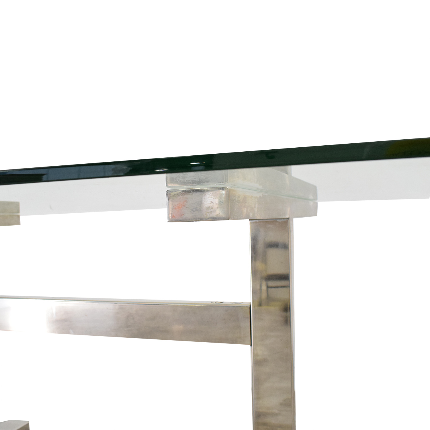 Williams Sonoma Williams Sonoma Mercer Glass Top Dining Table second hand