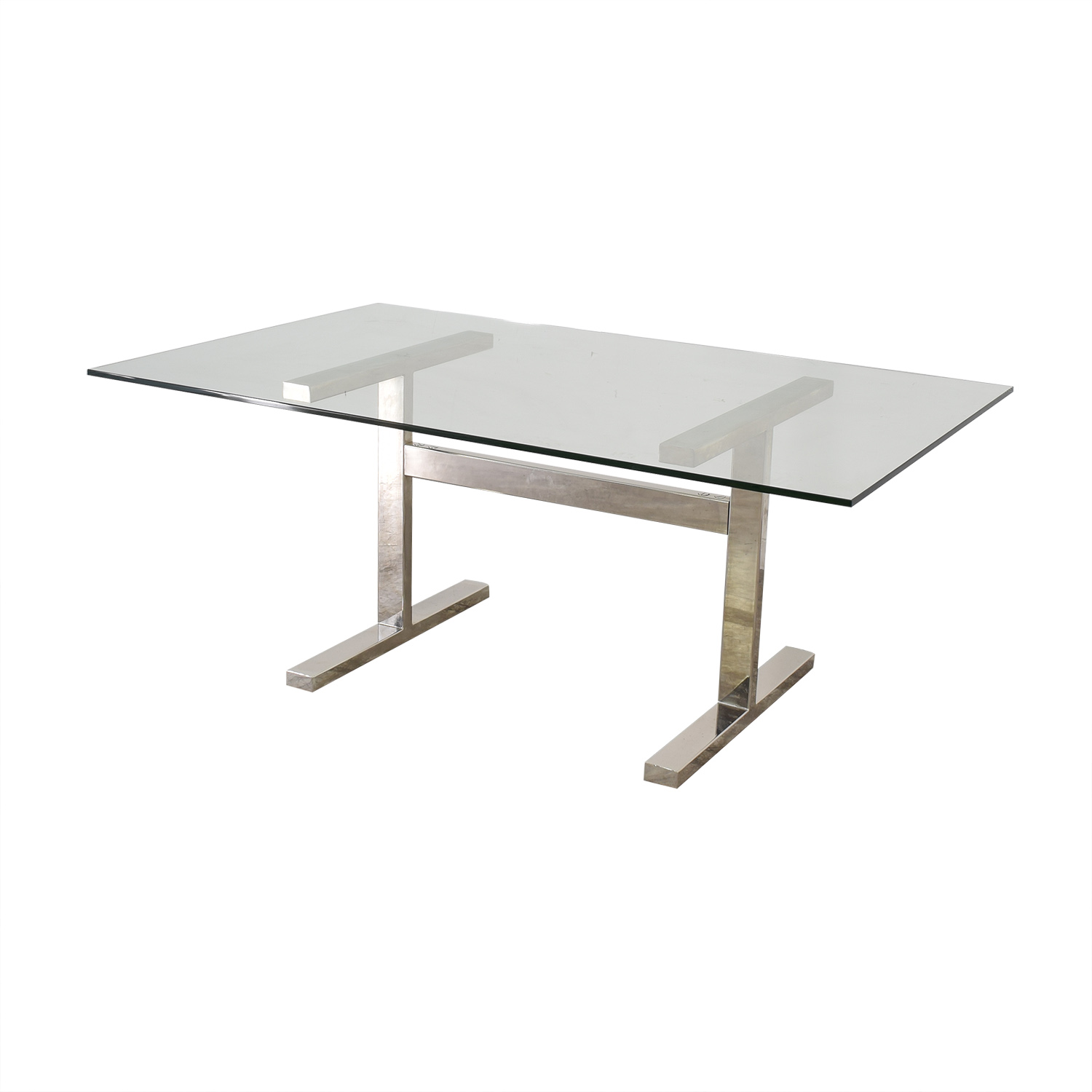 Williams Sonoma Williams Sonoma Mercer Glass Top Dining Table coupon