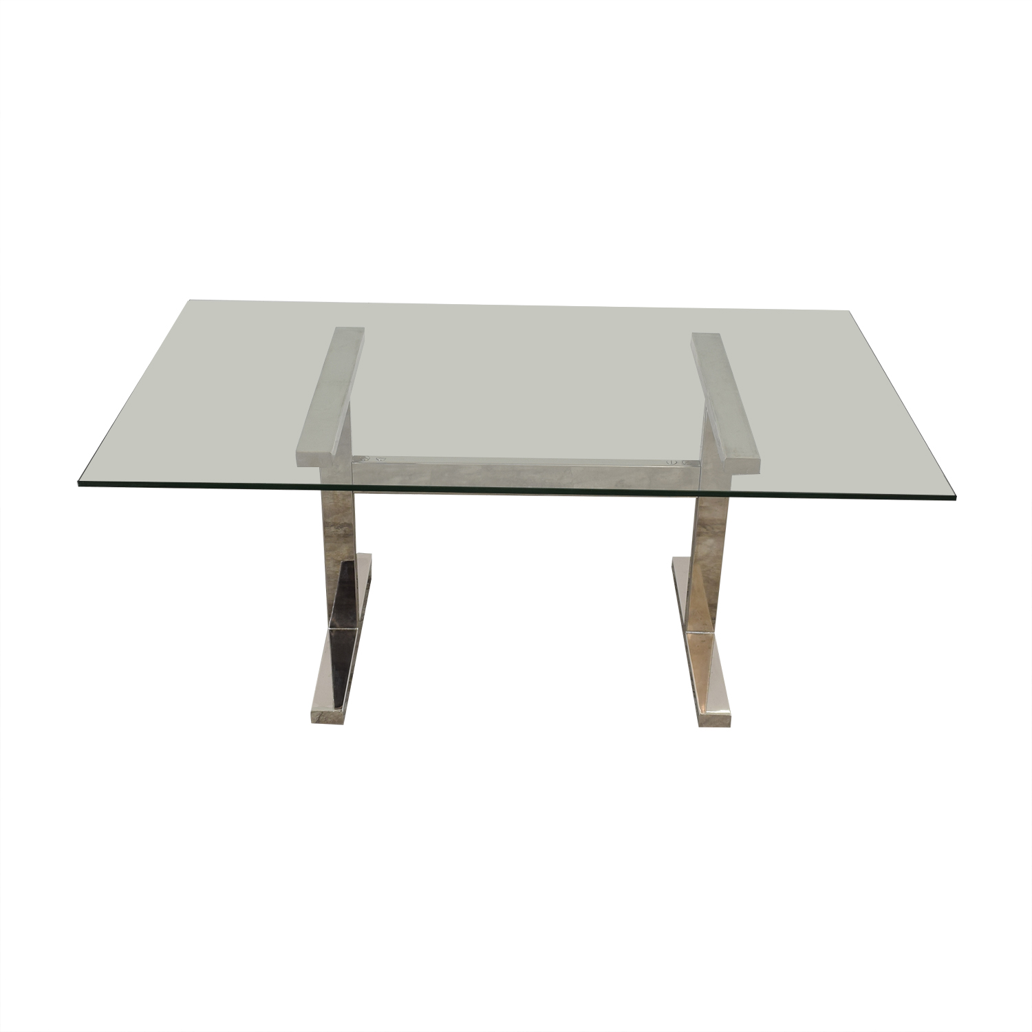 buy Williams Sonoma Williams Sonoma Mercer Glass Top Dining Table online