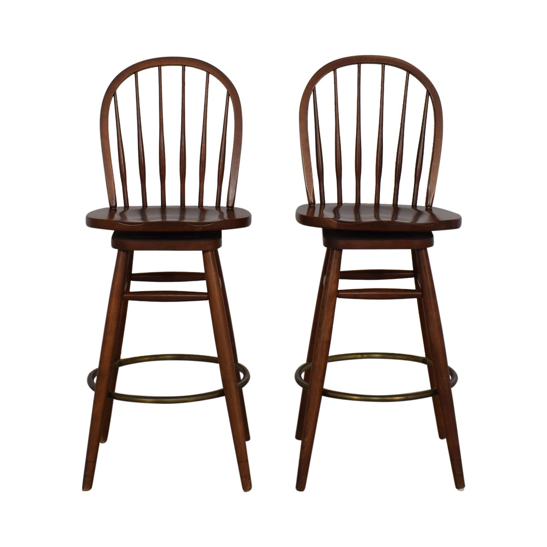 71 Off Ethan Allen Ethan Allen Windsor Swivel Bar Stools Chairs