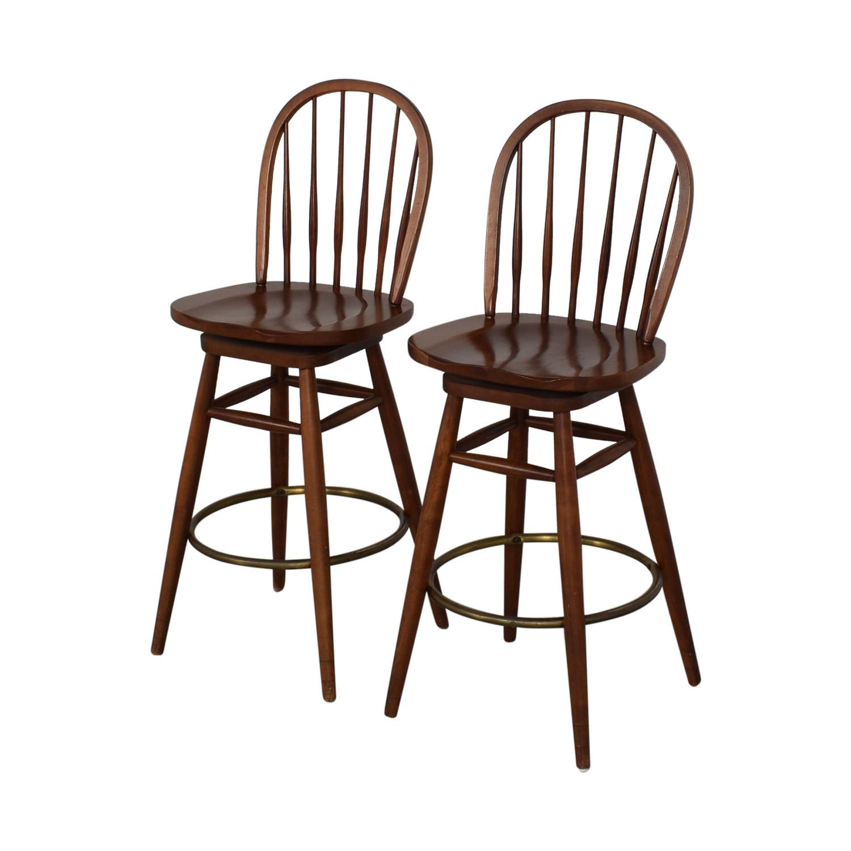 buy Ethan Allen Windsor Swivel Bar Stools Ethan Allen Stools