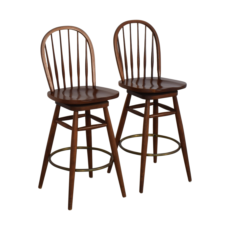 Ethan Allen Windsor Swivel Bar Stools / Chairs
