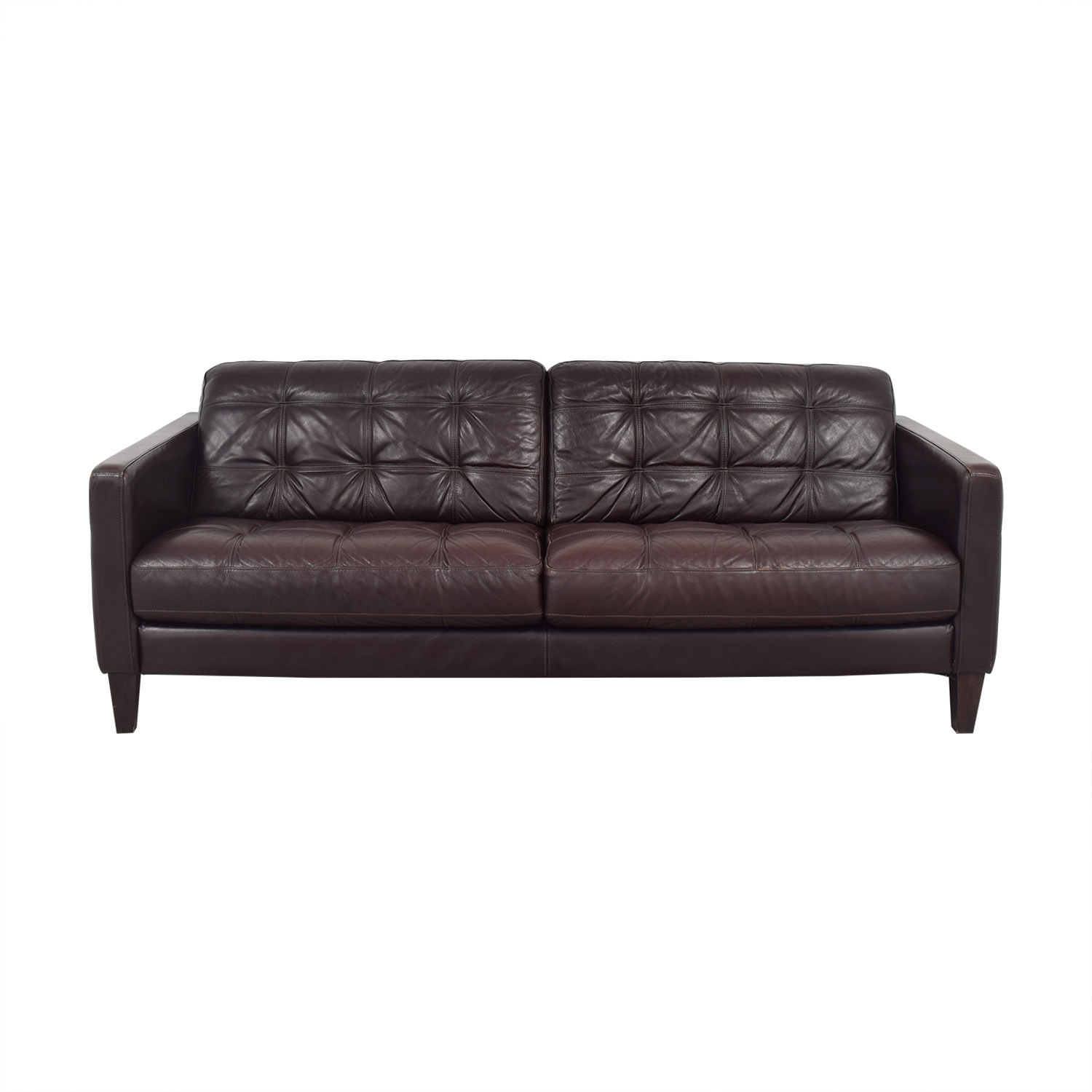 Macy's Tufted Two Cushion Sofa / Sofas