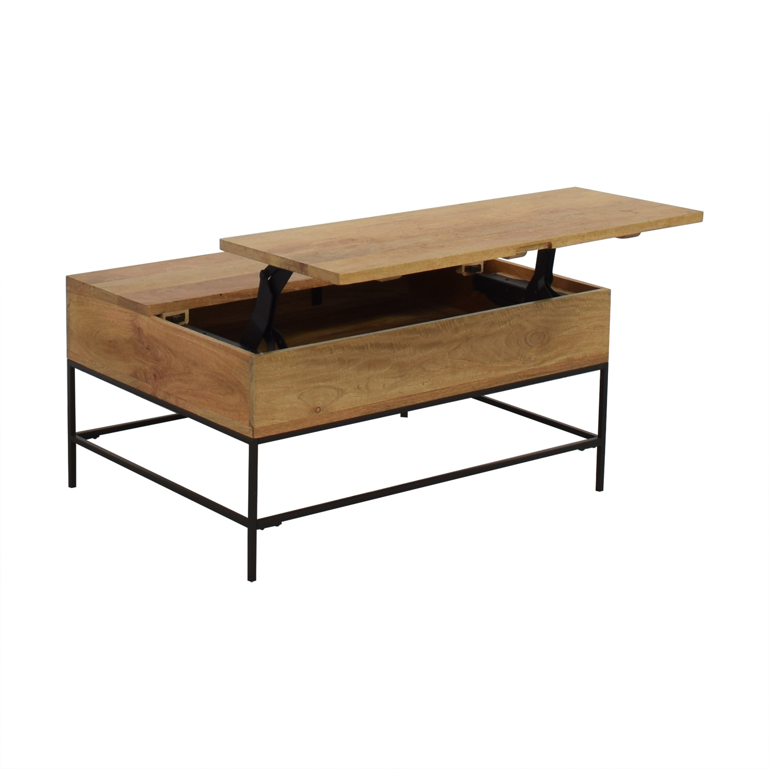 West Elm West Elm Industrial Storage Coffee Table second hand