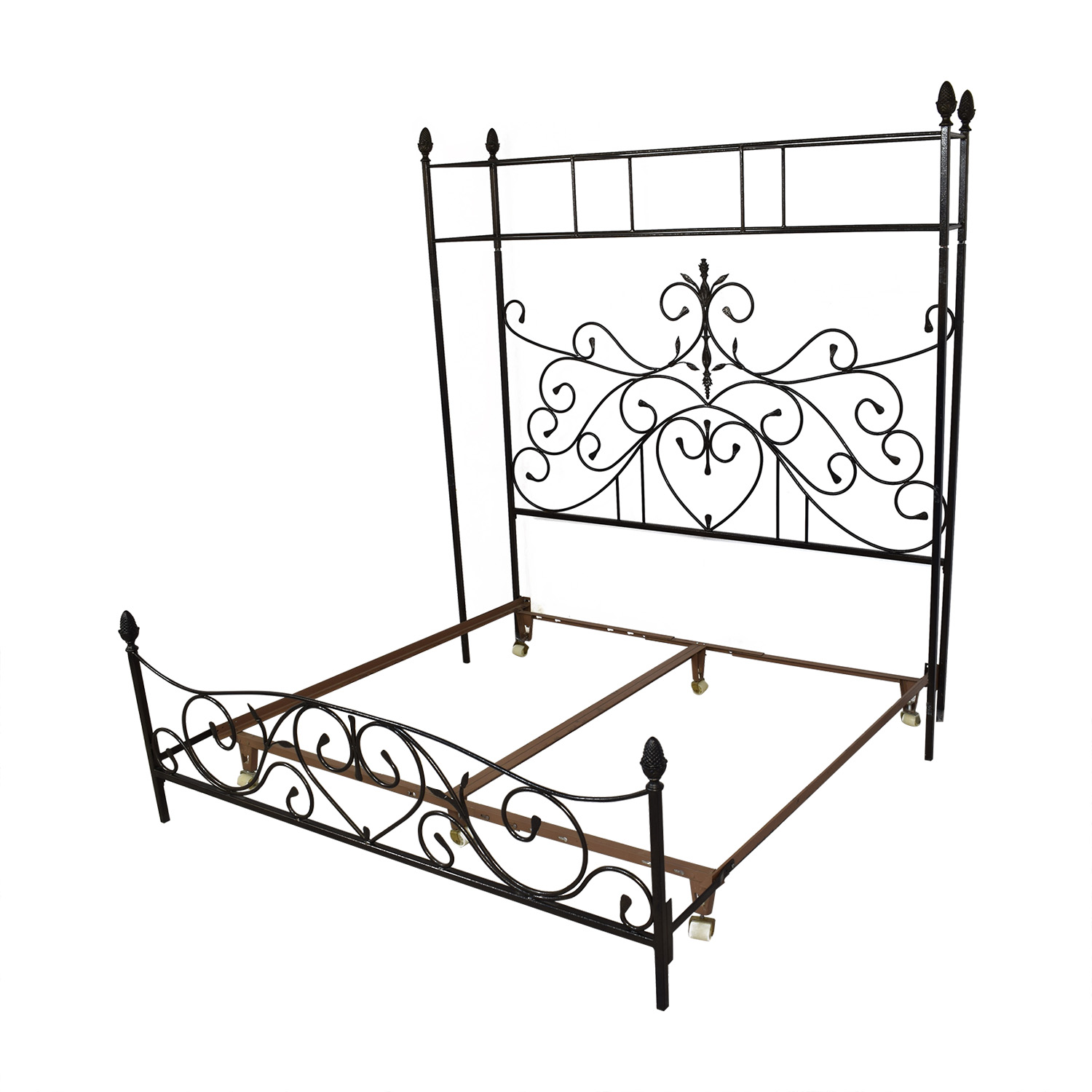 Custom Wrought Iron Canopy Bed pa