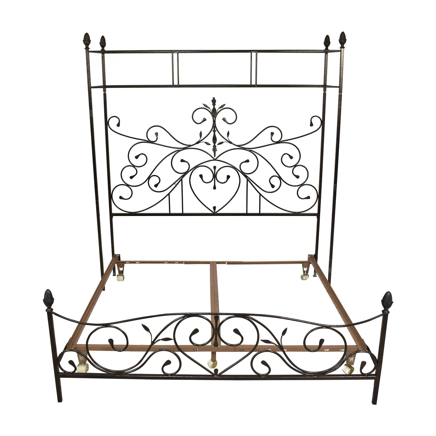 Custom Wrought Iron Canopy Bed ma