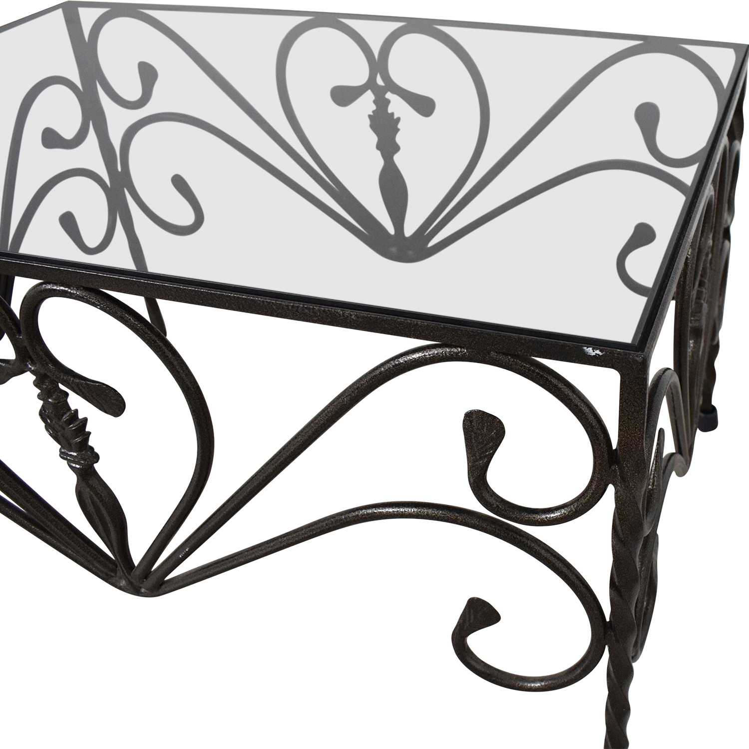 Custom Wrought Iron Table discount