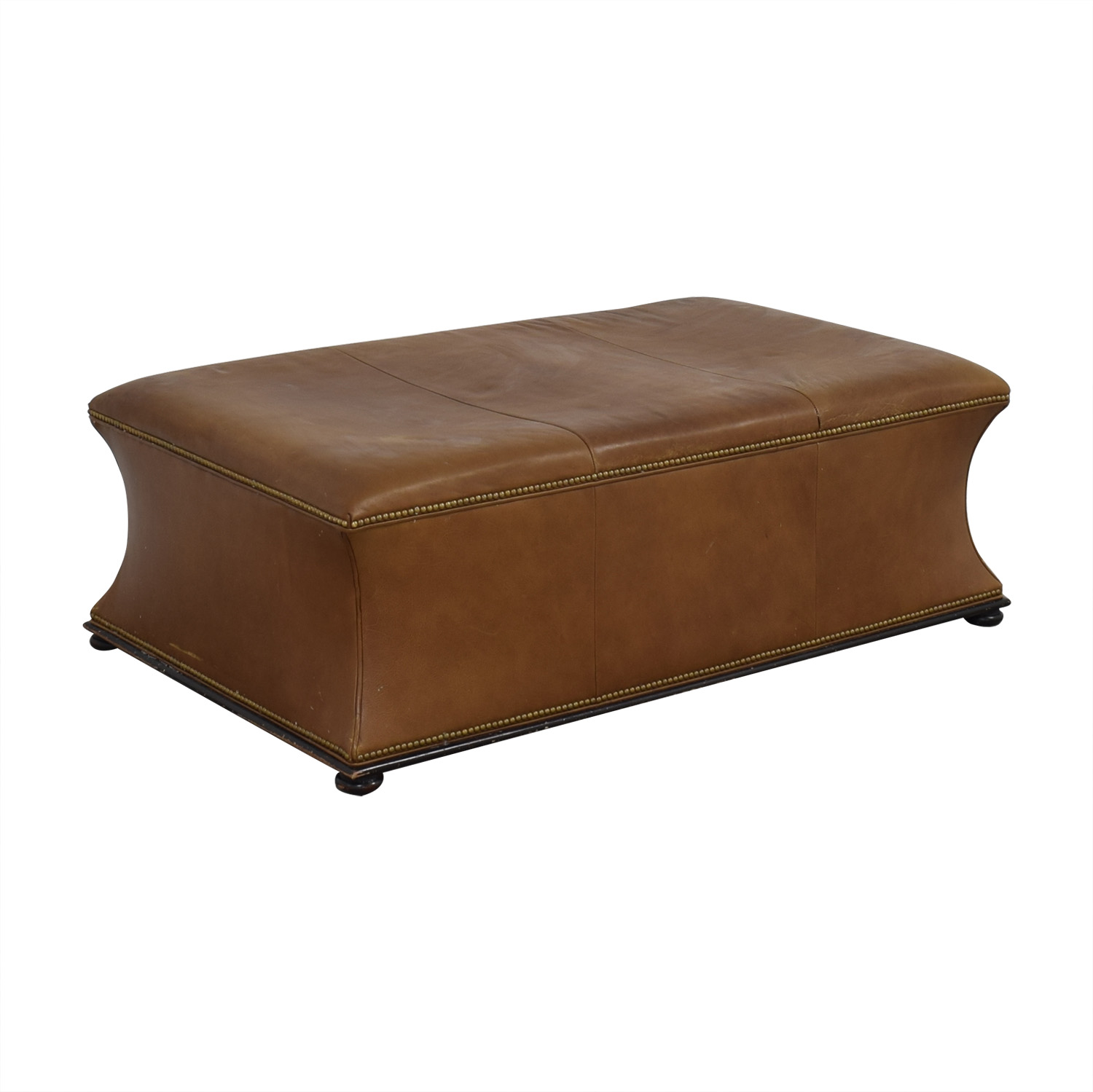 Hickory Chair Hickory Chair Leather Ottoman used