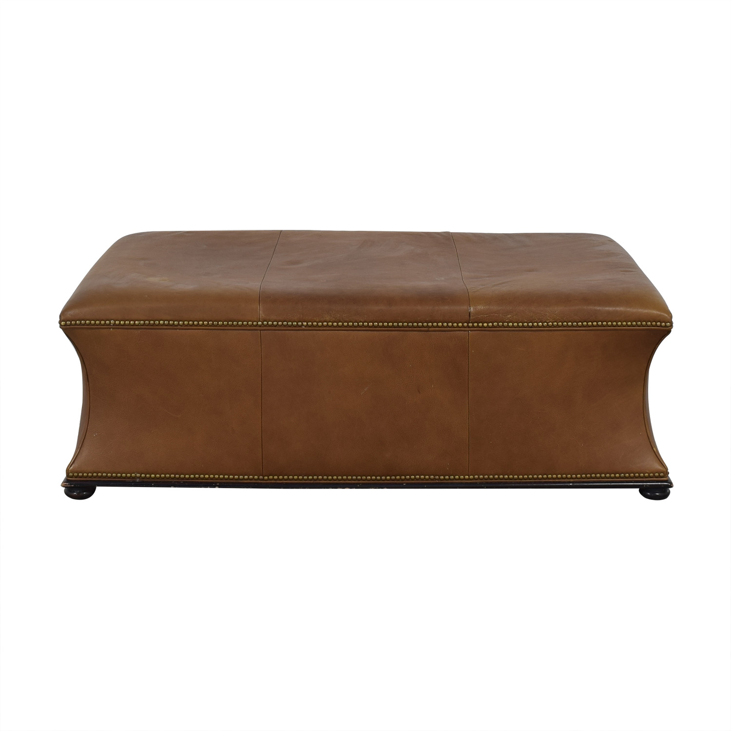 buy Hickory Chair Leather Ottoman Hickory Chair