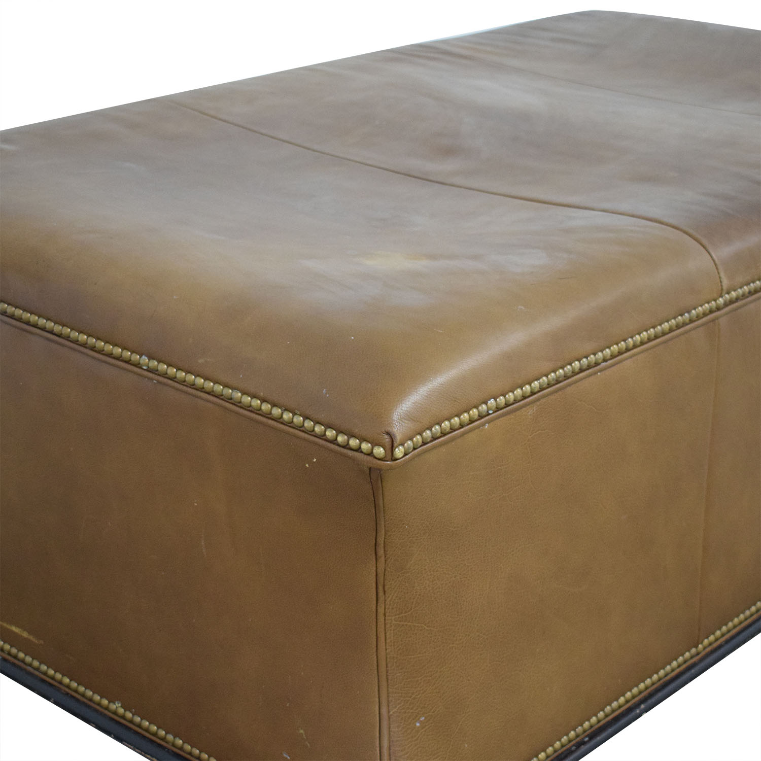 Hickory Chair Leather Ottoman sale