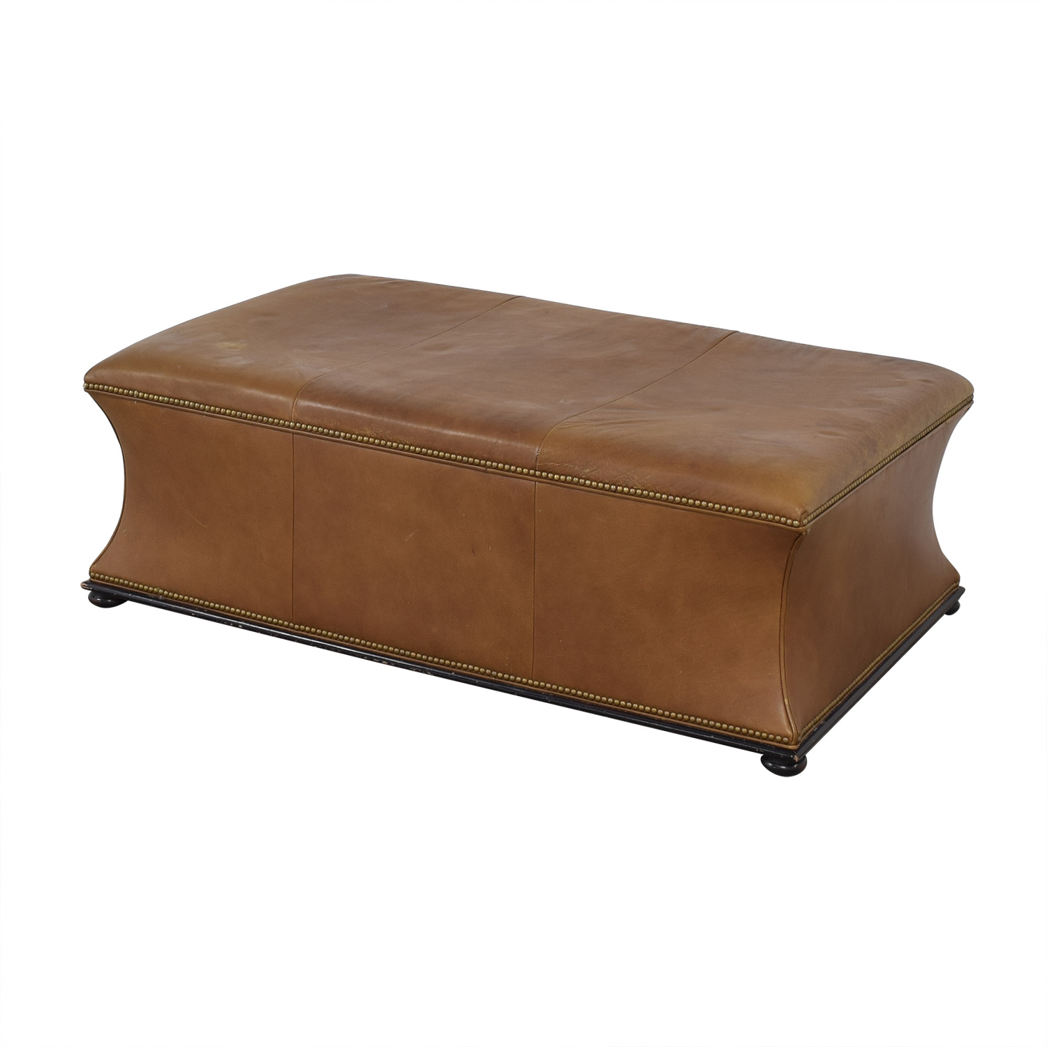 Hickory Chair Hickory Chair Leather Ottoman second hand