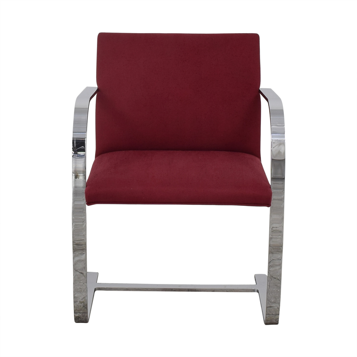 Knoll Knoll BRNO Chair with Flat Bar Frame red & silver