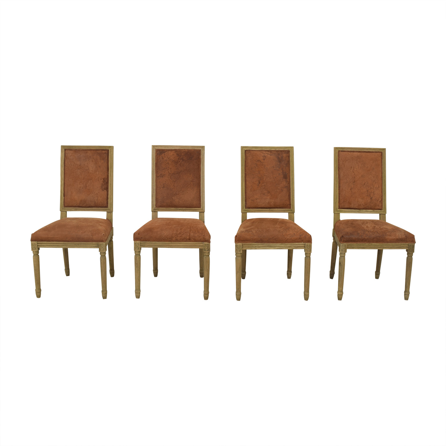 Restoration Hardware Restoration Hardware Vintage French Square Back Side Chairs on sale