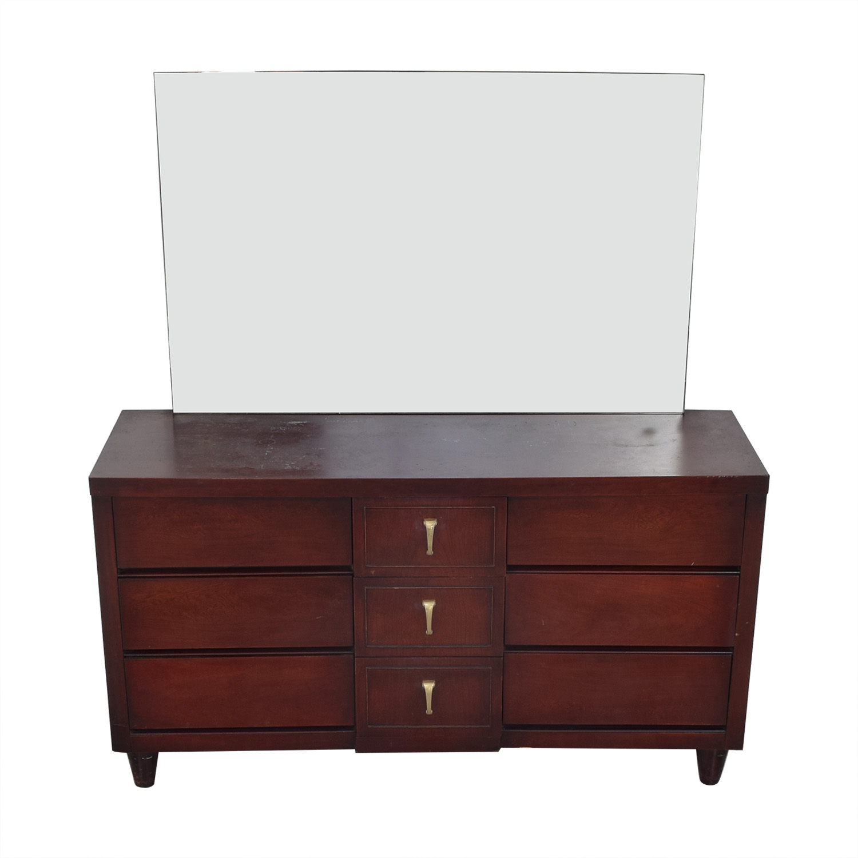 Scandinavian Mid Century Modern Dresser with Mirror second hand