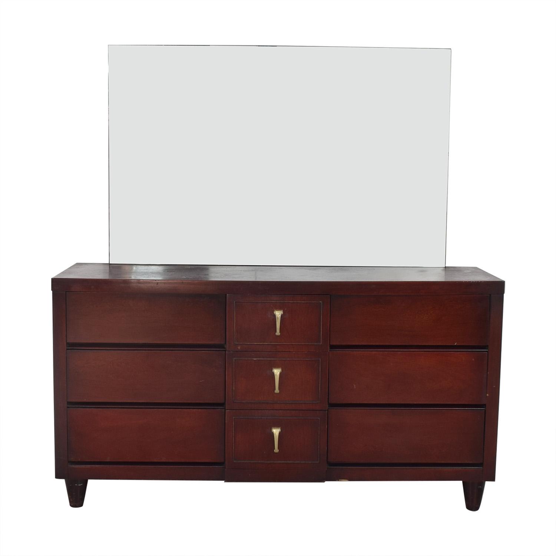 Scandinavian Mid Century Modern Dresser with Mirror pa