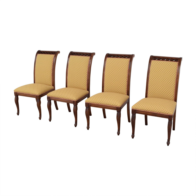 KPS Furnishings KPS Furnishings Custom Dining Chairs yellow & brown