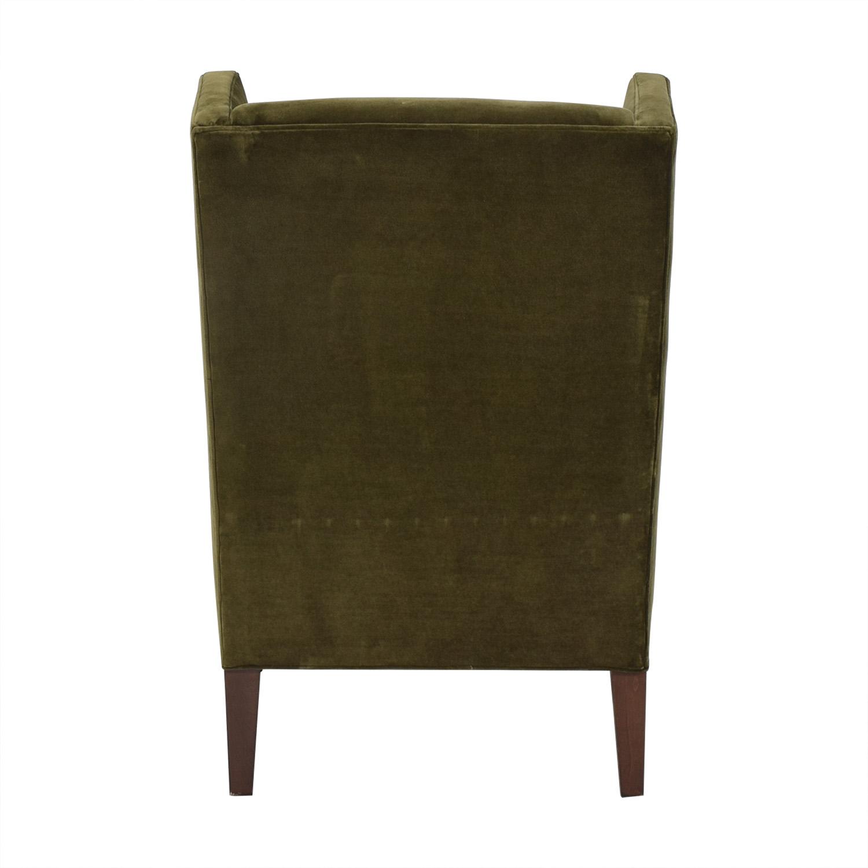 shop Crate & Barrel Luxe Wingback Chair Crate & Barrel
