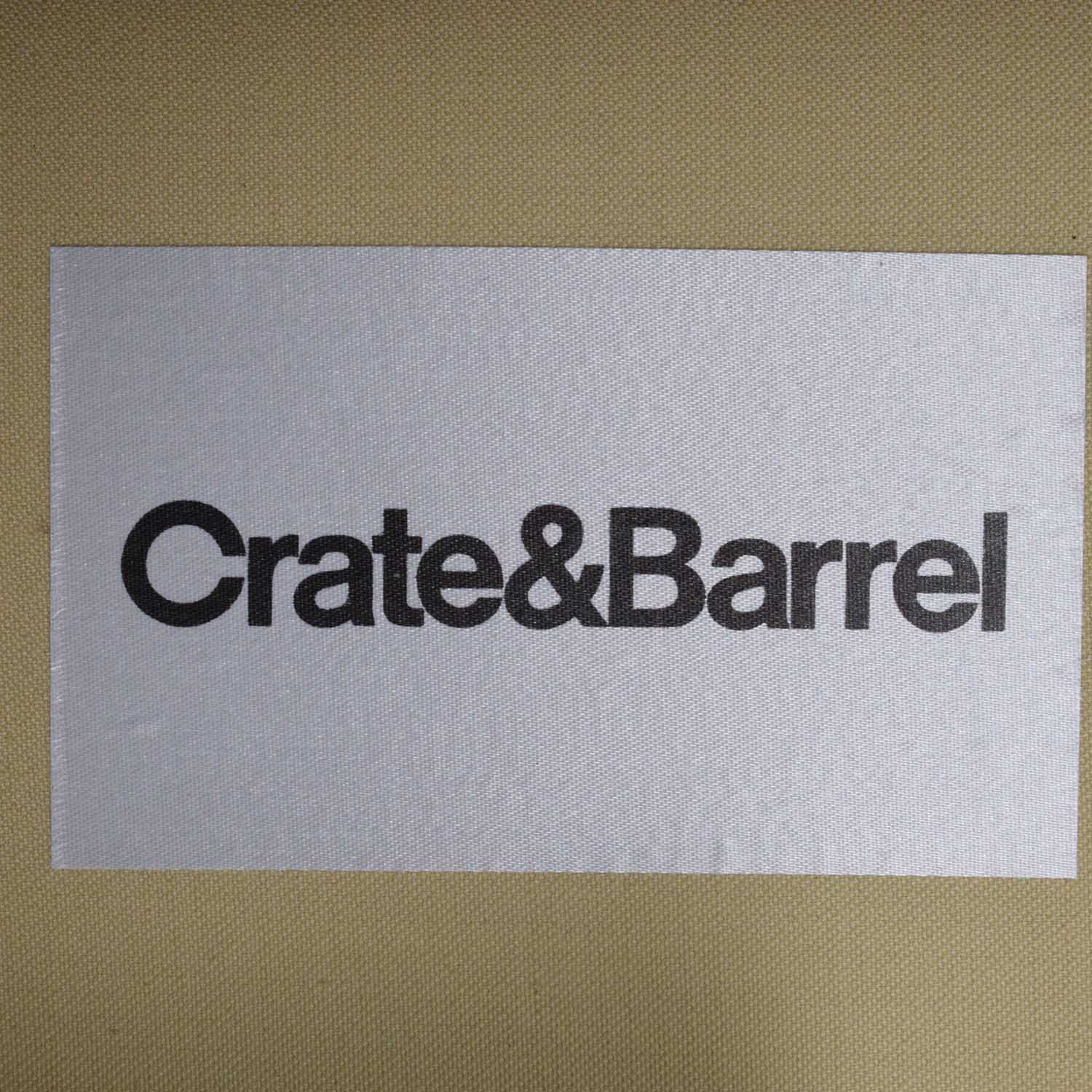 Crate & Barrel Luxe Wingback Chair Crate & Barrel