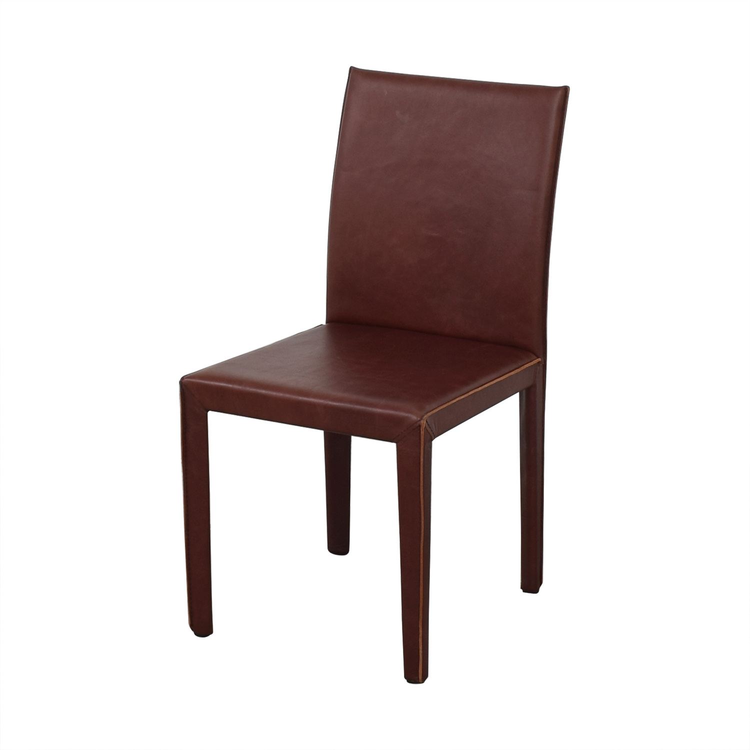 Crate & Barrel Folio Merlot Dining Chairs / Dining Chairs