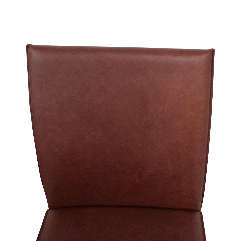 Crate & Barrel Crate & Barrel Folio Merlot Dining Chairs pa