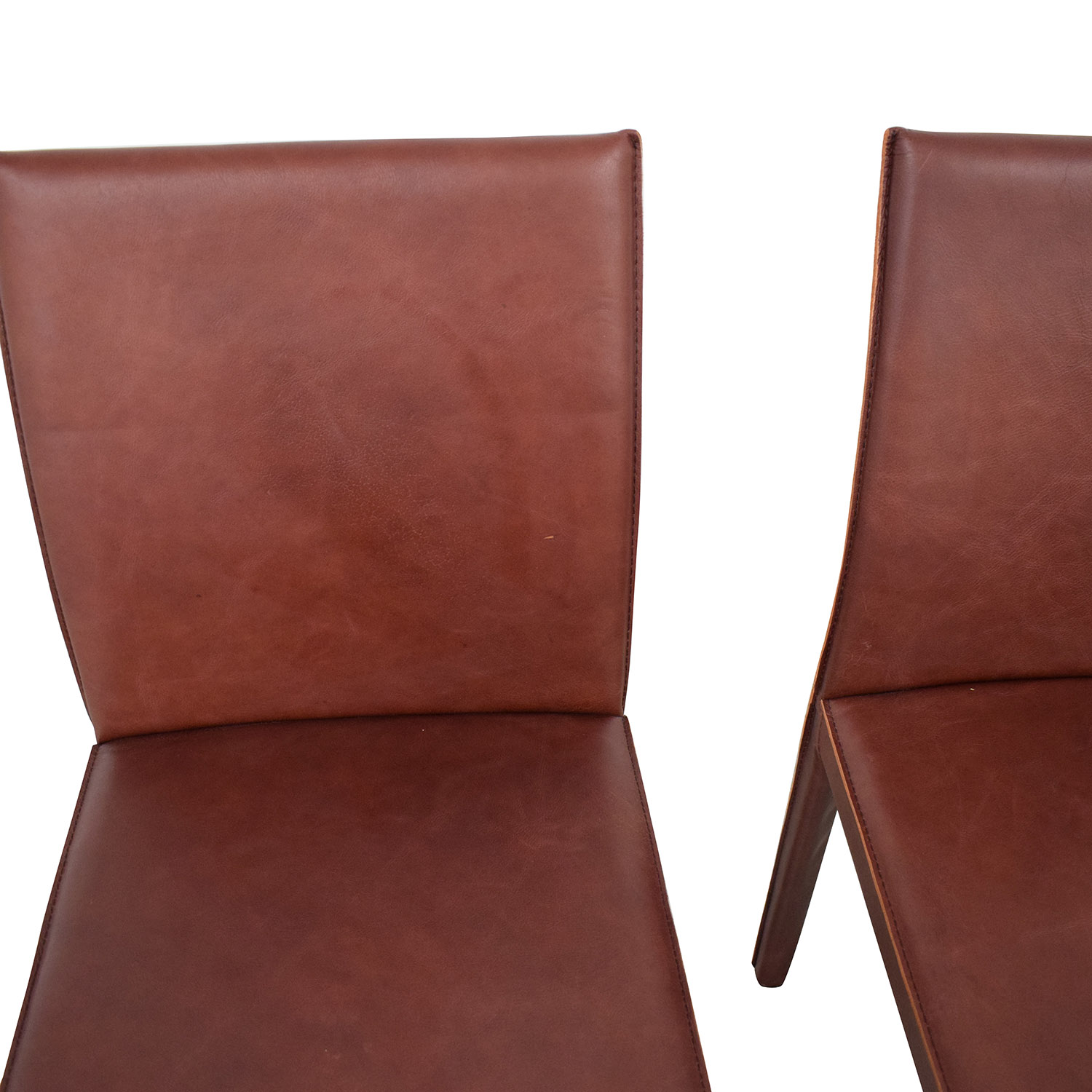 shop Crate & Barrel Folio Merlot Dining Chairs Crate & Barrel Chairs